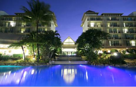Featuring a lagoon style pool with sandy beaches and a swim-up bar
