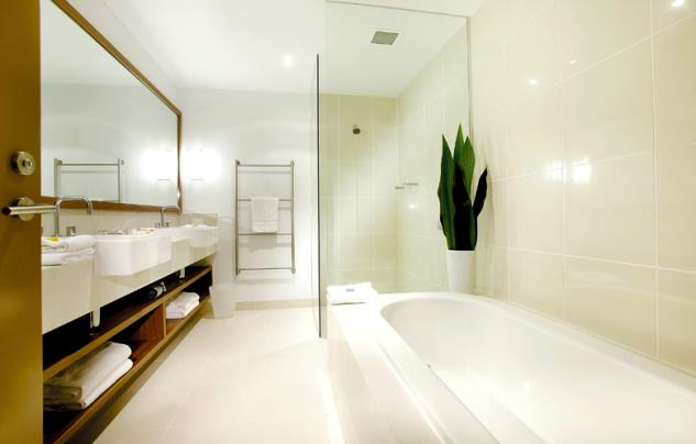 Crisp, clean and well appointed Suite bathrooms