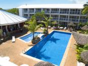 The Melanesian - Gallery - Aerial of Swimming Pool and Bar